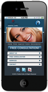 Mobile Website for Dentist