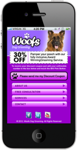 Dog Groomer Mobile Website