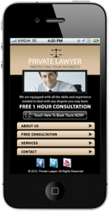 Lawyer Mobile Website