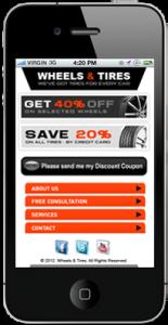 Tire Shop Mobile Website